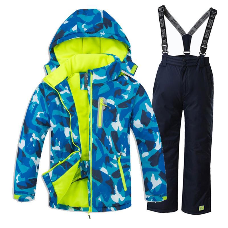 cccde1943 Compre Crianças Roupas De Neve Inverno Impermeável Terno De Esqui Para  Crianças Jaqueta De Esqui E Calças Snowboard Set Inverno Jaqueta E Calças  De ...