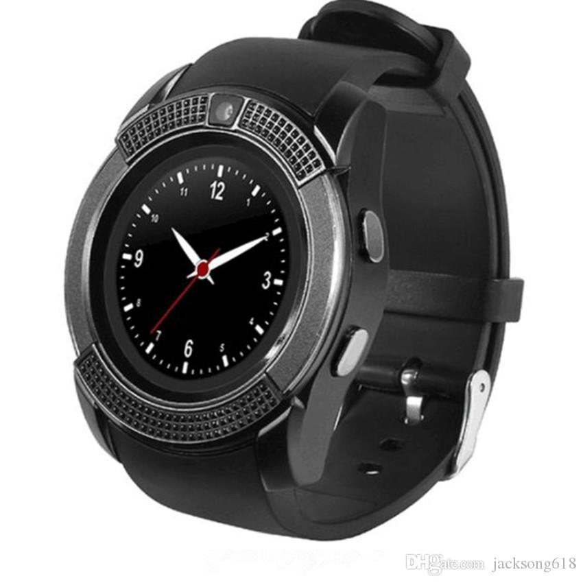2018 Newest V8 Smart Watch Android Watch Phone Clock Support SIM TF Card  Bluetooth Notification Alarm Reminder for Samsung Xiaomi 10pcs/lot