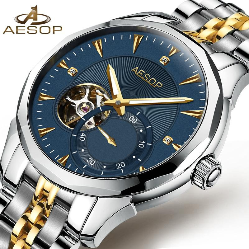 AESOP Blue Men Watch Men Automatic Mechanical Sapphire Crystal Wrist  Wristwatch Male Clock Relogio Masculino Hodinky Fashion 46 Nice Watches Low  Price ... db8a7755523