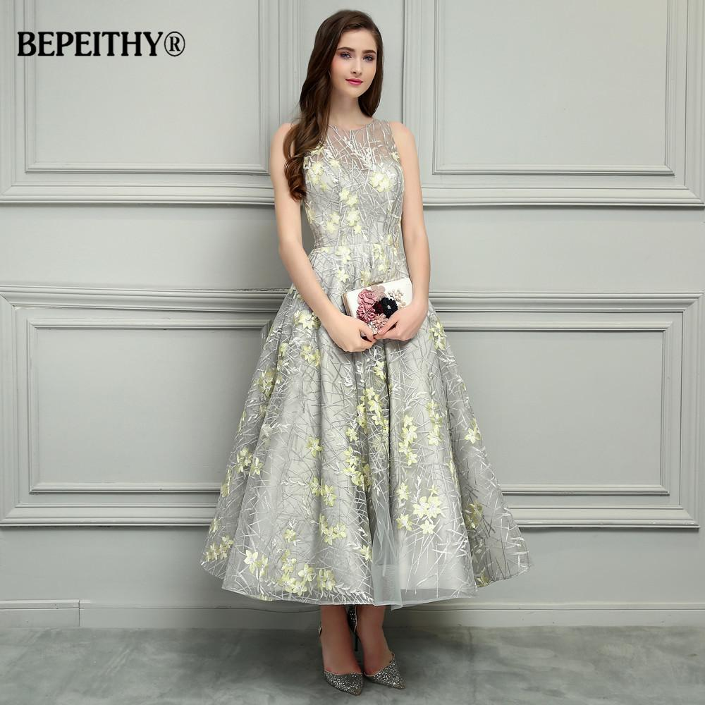 716ae61622731 2019 BEPEITHY O Neck Ankle Length Lace Evening Dresses Vestido De Festa  Sexy Open Back Cheap Prom Dress 2017 Hot Sale C18111601 From Linmei0005, ...