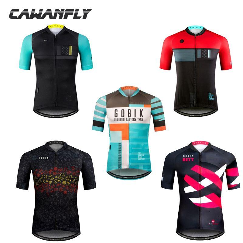 Pro Team Gobik Summer Short Sleeve Mtb Bike Cycling Jersey 2018 Ropa  Ciclismo Cycling Clothing For Men Shirt For Hombre Maillot Cycling Shorts  Men Mountain ... feb265eb5