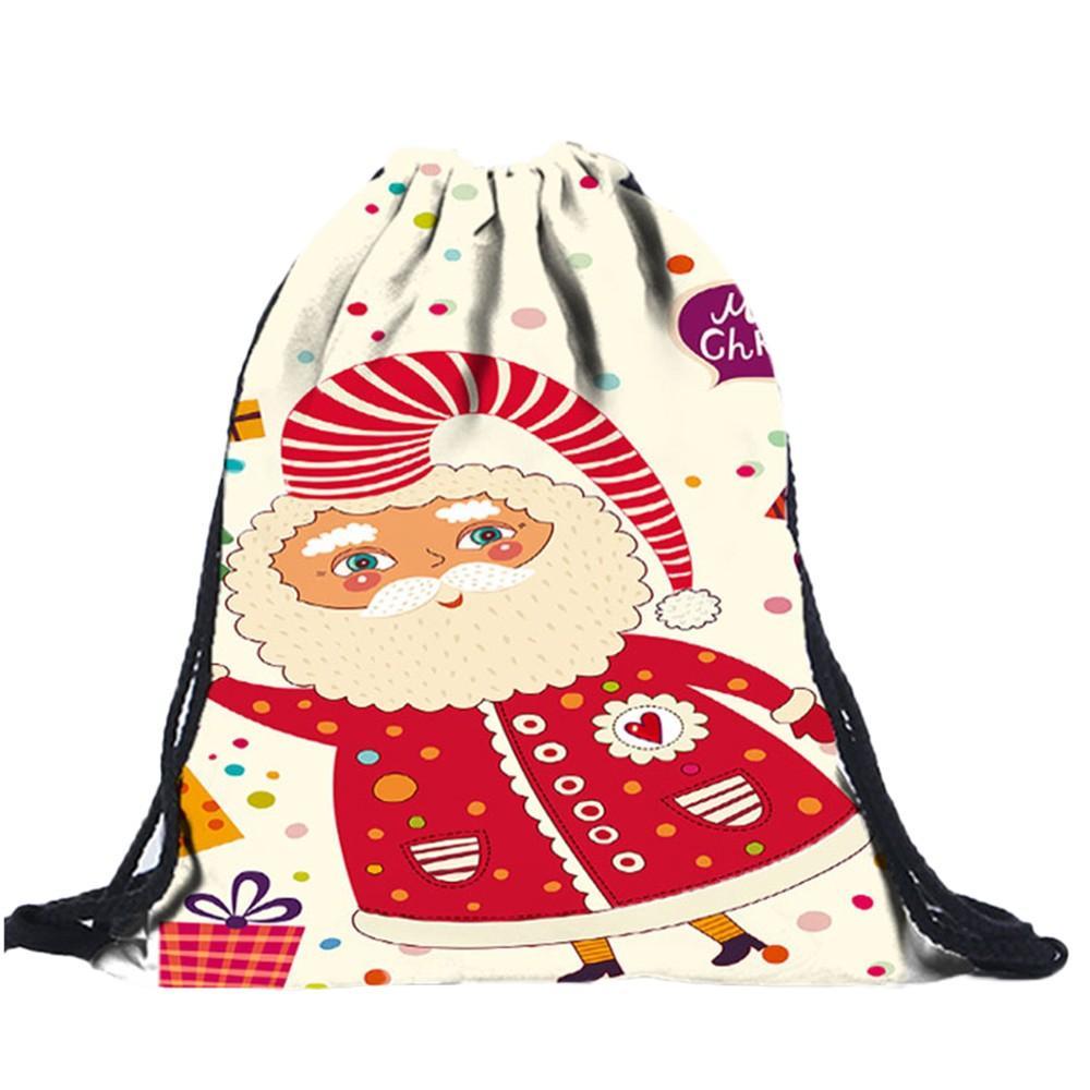 Großhandel 2018 Weihnachten Unisex Rucksack 3d Digitaldruck Zeichnen ...