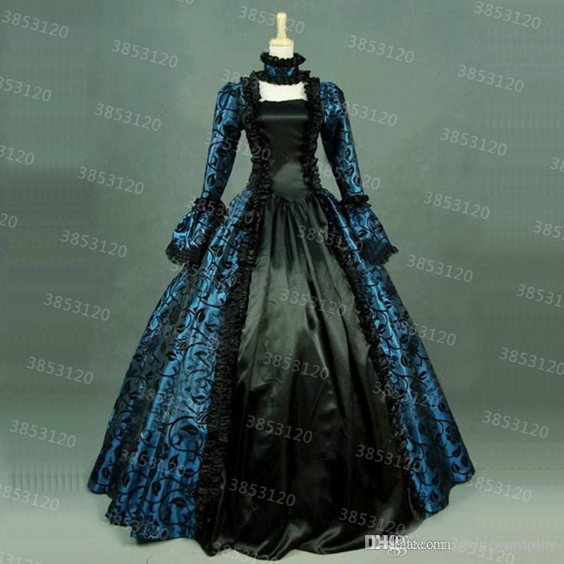 3b3ebe1119 2019 Custom 2018 Newest Print Brocade Victorian Steampunk Dresses 18th  Century Civil War Historical Party Dress Ball Gown For Girl From  Gothic cosplay