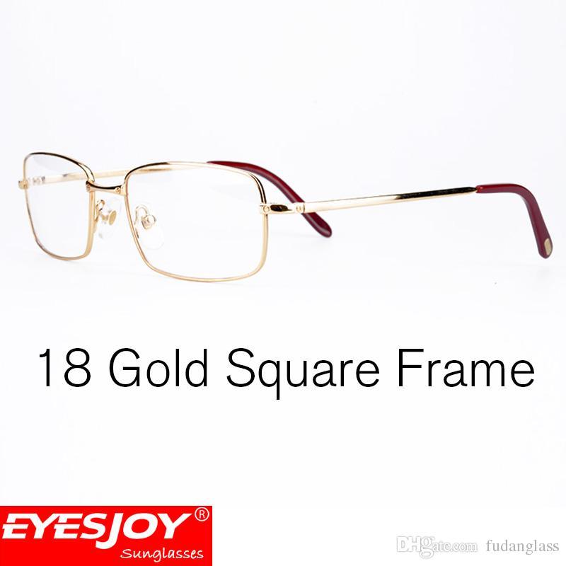 Mens Metal Glasses Luxury Frames Brand Designer Eyelasses Fashion ...