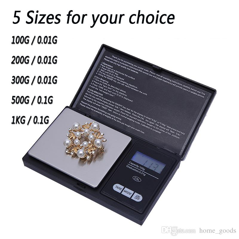 Mini Digital Scales 0.01g x 200g 300g Pocket Digital Scales Silver Coin Gold Diamond Jewelry Balance Scale LCD Electronic Kitchen Scale
