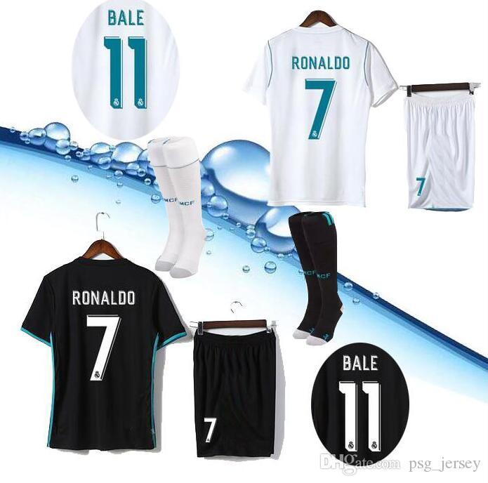 96dc68521b2 2017 2018 Champions League Set + Socks Soccer Jersey Real Madrid ...