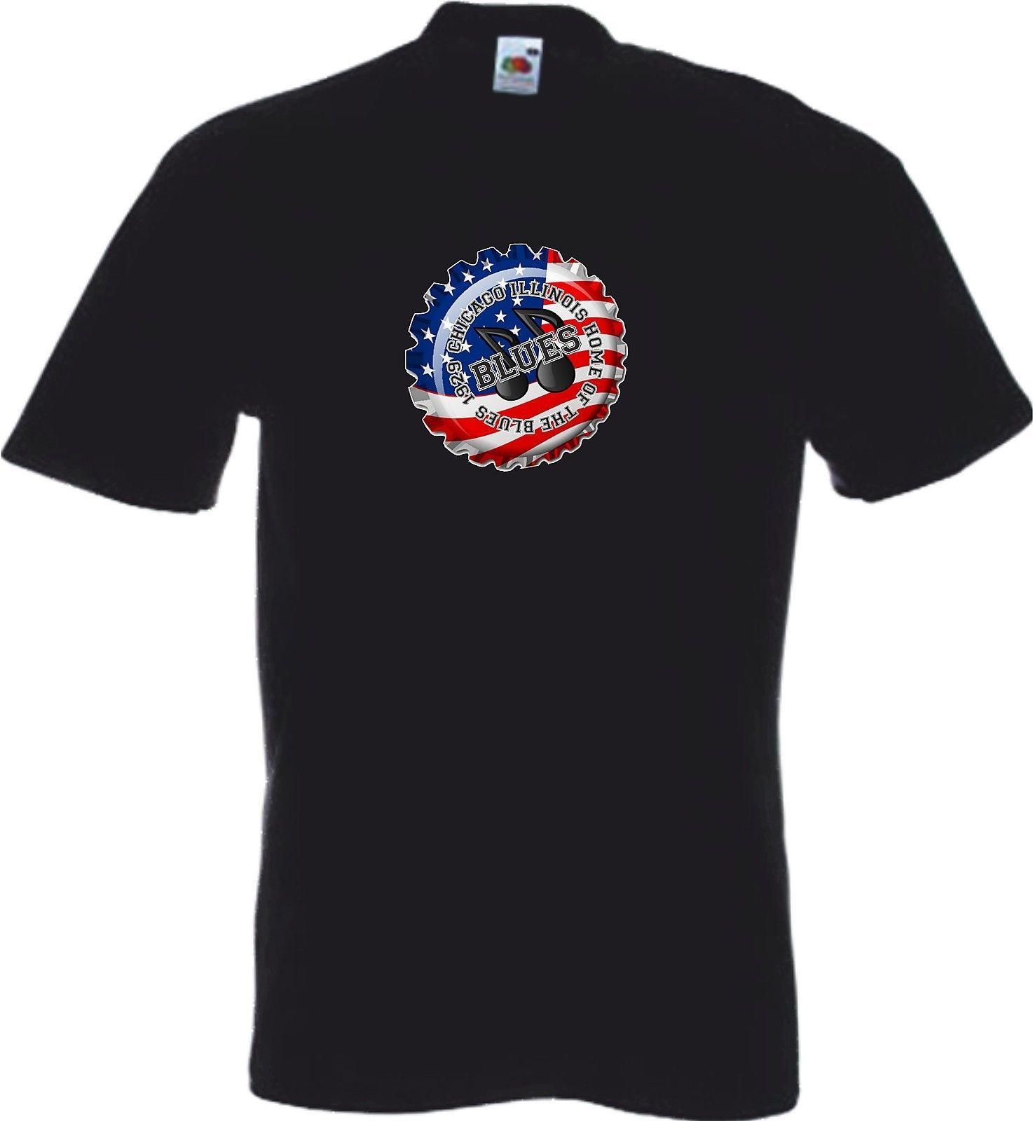 da58e70494 Chicago Blues Music T Shirts T Shirts Tops Rhythm Blue Grass R&B ...