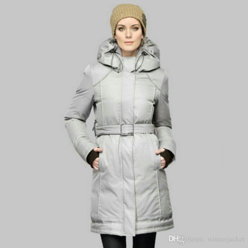 Slim Long Parka Women Canadian Hoody Anorak Puffer Duck Down Magnet Button Waist Ladies Coats Outdoor Black Bomber Jacket High quality