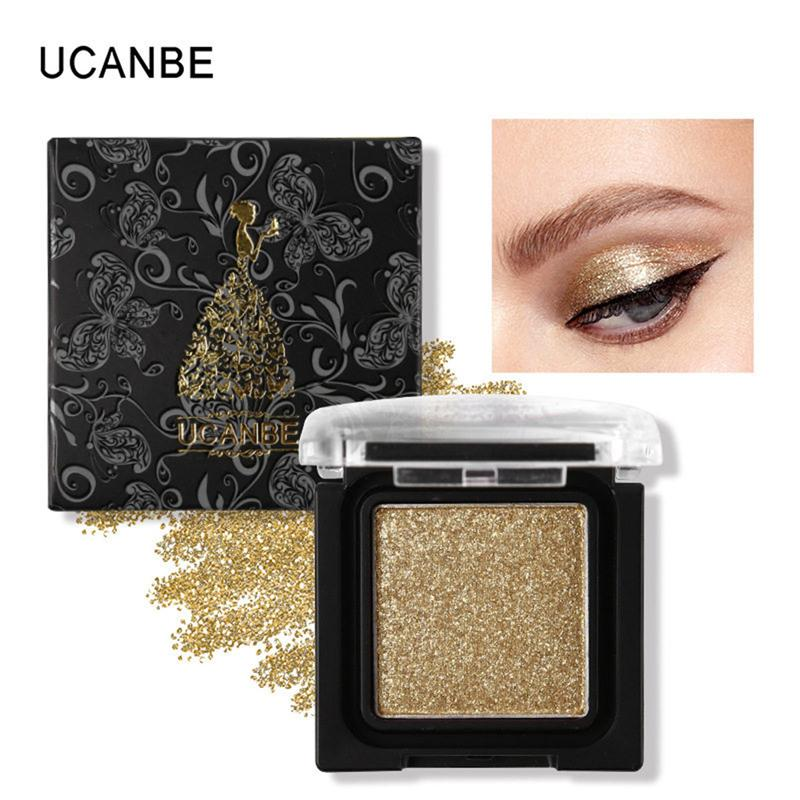 Original UCANBE 8 Colors Single Metallic Eye Shadow Makeup Palette Nude Shimmer Matte Pigmented Glitter Eyeshadow Cosmetics Set 2801073
