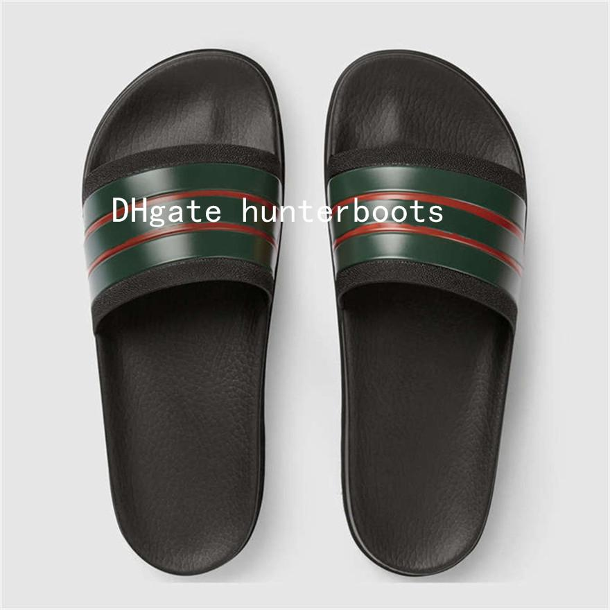2018 Chaussures Maison Marque D'été Sandales Plat Luxe G Intérieur Nouveaux Hommes De Tongs Avec Plage Pantoufles Diapositives Designer J35uFcK1lT