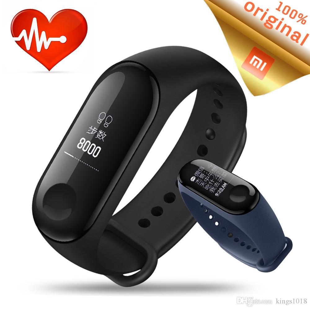 Original Xiaomi Mi Band 3 Smart Bracelet Miband Smartband Heart 2 Rate Monitor Fitness Tracker Waterproof Wristband In Stock Best Activity Sleep
