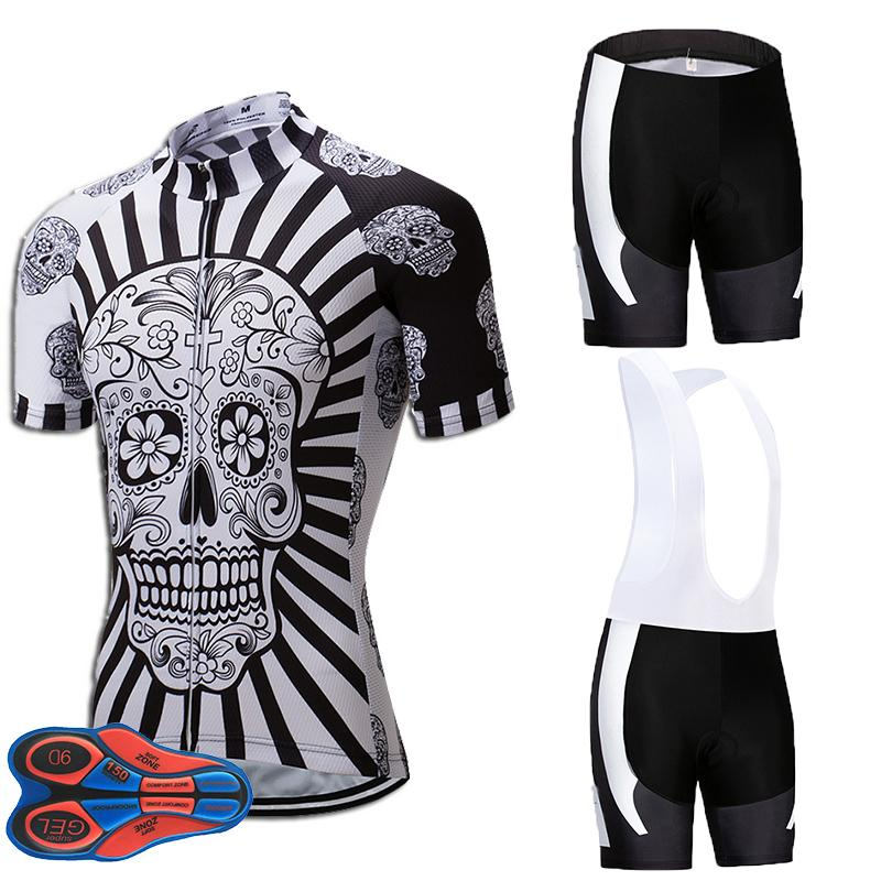 UCI Team 2018 White Bone Cycling Jersey 9D Bike Shorts Suit MTB Mens ... 25fd82daf