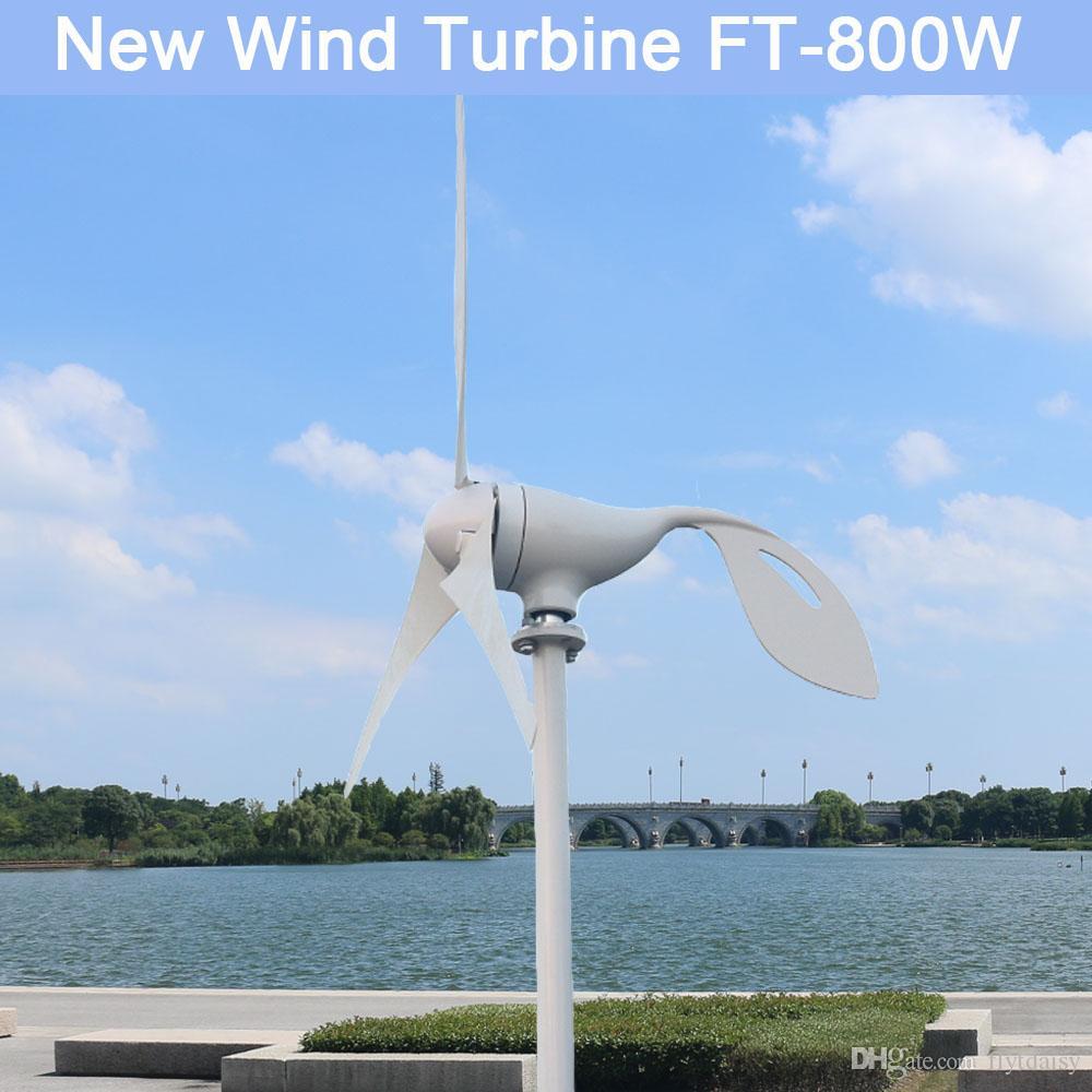 960d97a3e4c Compre 800 W 12 V 24 V Volt 3 Lâmina De Fibra De Nylon Casa Horizontal Turbina  Eólica Gerador De Energia Eólica Moinho De Energia Com Controlador PWM De  ...