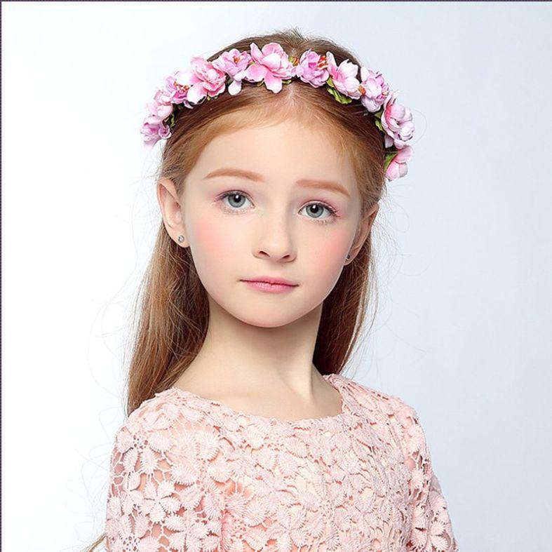 2019 New High Quality Headdress Garland Wedding Bride Bridesmaid Hair  Accessories Cloth Flower Headband Flower Girl Dress Up Flower Headband. 9ad16cb308a