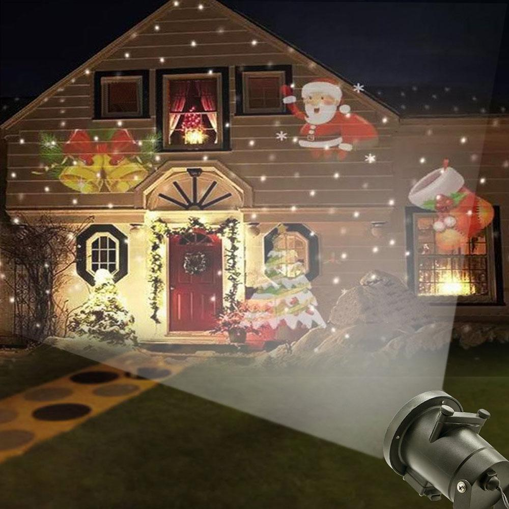 Christmas Projector.12 Patterns Halloween Decoration Projector Light Outdoor Garden Waterproof Lawn Snowflake Landscape Lamp Christmas Holiday Party