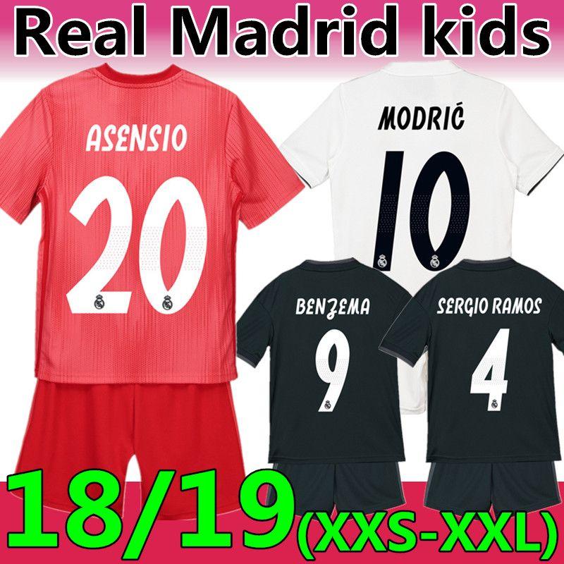 97836f1252 Compre 18 19 Real Madrid MODRIC Kids Soccer Jersey Camiseta De Fútbol De  Calidad AAA Tailandesa 18 19 Real Madrid Niños Rosa Fútbol   20 ASENSIO  ISCO BALE ...