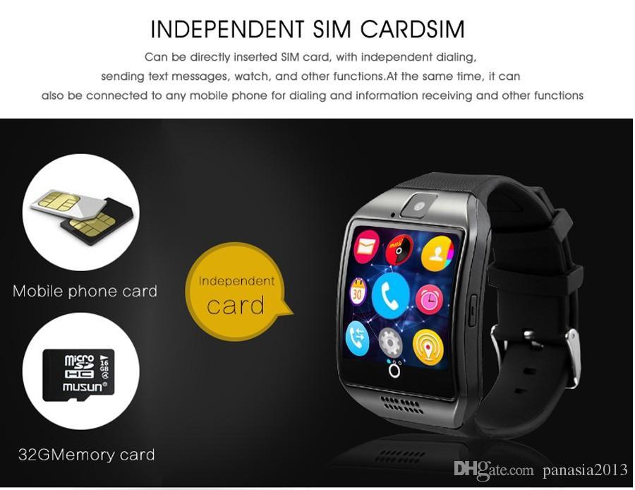 Smart-Uhren Q18 Bluetooth Smartwatch für Apple iPhone IOS Samsung Android-Telefon mit SIM-Karten-Slot Armbänder Smart Watch
