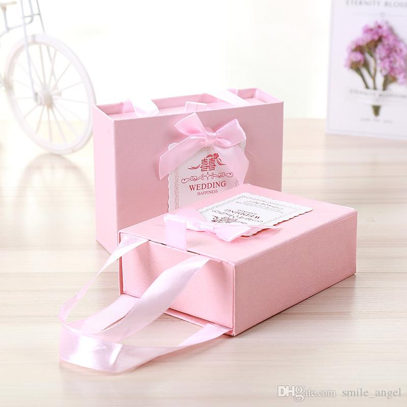 2018 New High End Wedding Favors Box Drawer Candy Boxes Paper Gift