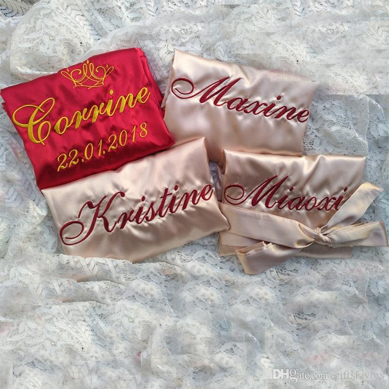 bridesmaid kimono satin robes bride personalized gift wedding bridal shower party gifts wholesale fall wedding favor ideas glass wedding favors from