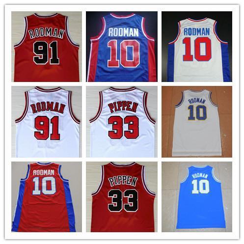 more photos 4eb4f 7db81 Basketball Jerseys Oklahoma Savages 10 Dennis Rodman Men 91 Dennis Rodman  Jersey The Worm 33 Scottie Pippen College Stitched Movie