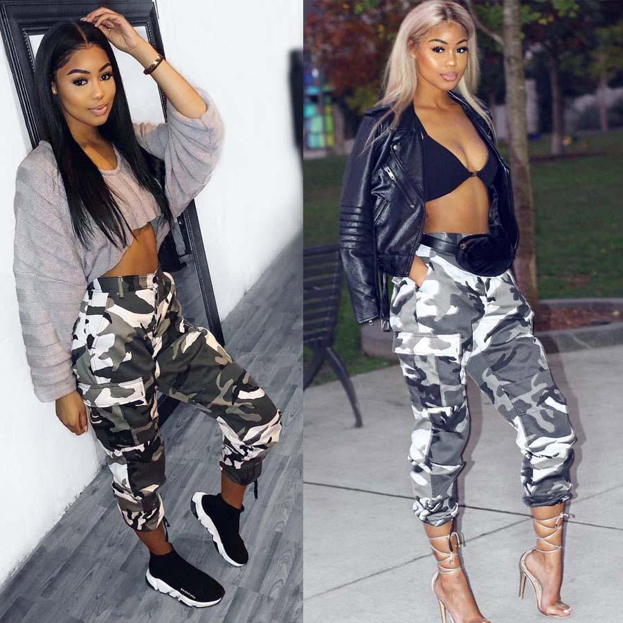 9efb60301048b 2019 S 5XL Plus Size Womens Camo Cargo Trousers Casual Sports Joggers Long  Pants Military Army Combat Camouflage Jeans From Dress_ch, $12.45 |  DHgate.Com