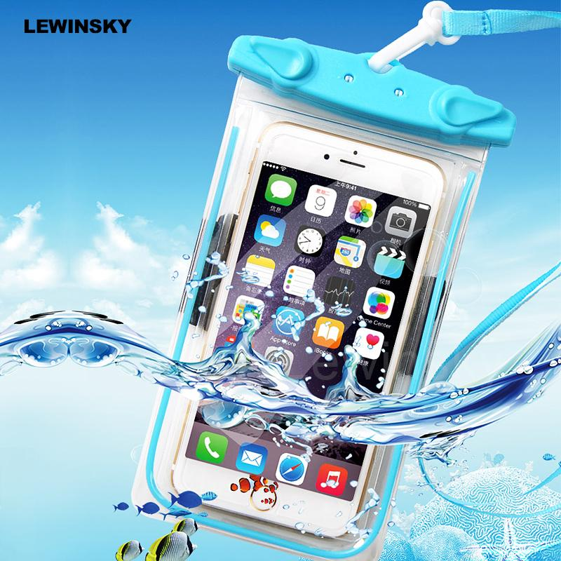 Swimming Waterproof Bag Phone Case For iphone sumsung Huawei xiaomi Under 5.5 inch universal models Bag
