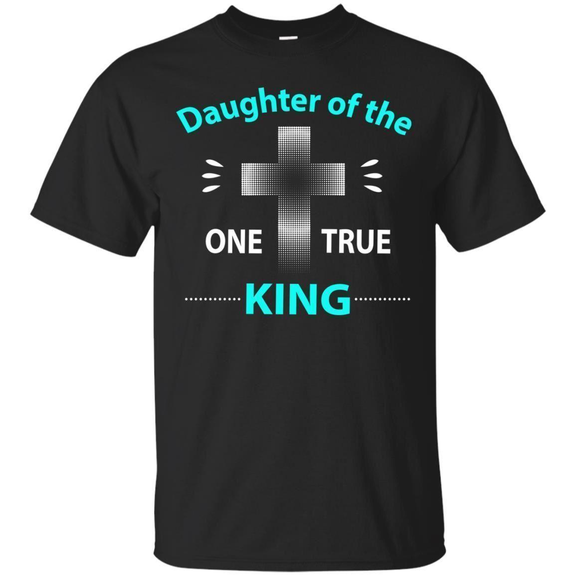 Compre Camisas Cristãs Filha Um Verdadeiro Rei Jesus Criança Deus Marinha  Preta Camiseta S 3XL Nova Moda Mens Camisa De Manga Curta T De Algodão  Camisetas ... 787eebb1d1ba7