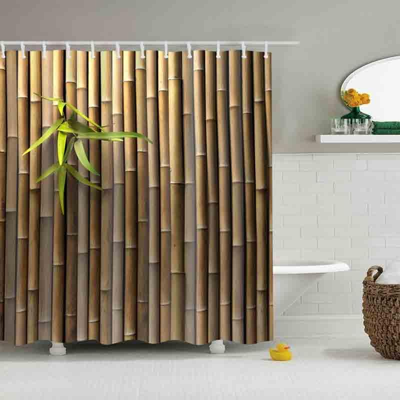 2019 Hot Selling New Bamboo Shower Curtains Custom Design Creative