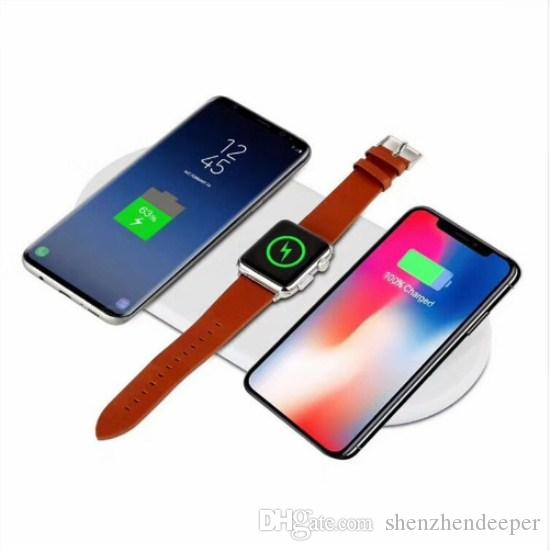 outlet store 97750 b0326 Newest For iPhone X 8 8 Plus Wireless Charger Pad Fast Charging For Apple  Watch 3 2 QI Charger For Sumsang S7edge S8