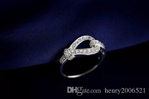 День святого Валентина 18-каратного белого золота в стиле 4 карата, обручальное кольцо, размер 8