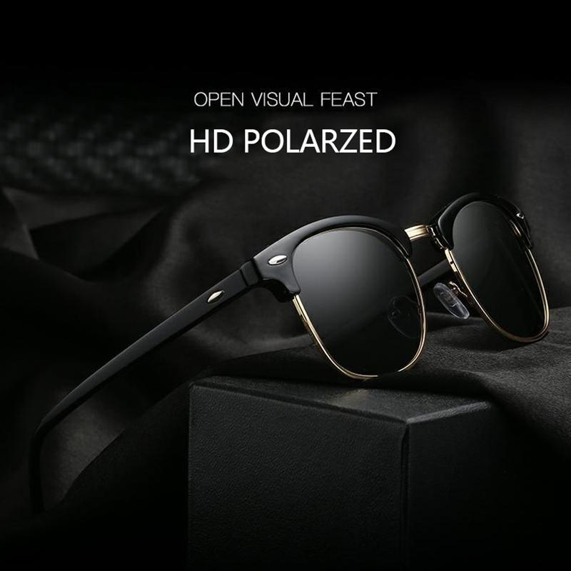 8f250215dcd 2018 Polarized Sunglasses Men Fashion Night Vision Driving Sunglass Classic  Retro Women Round Shades Sun Glasses Male Eyewear Eyewear Designer  Sunglasses ...