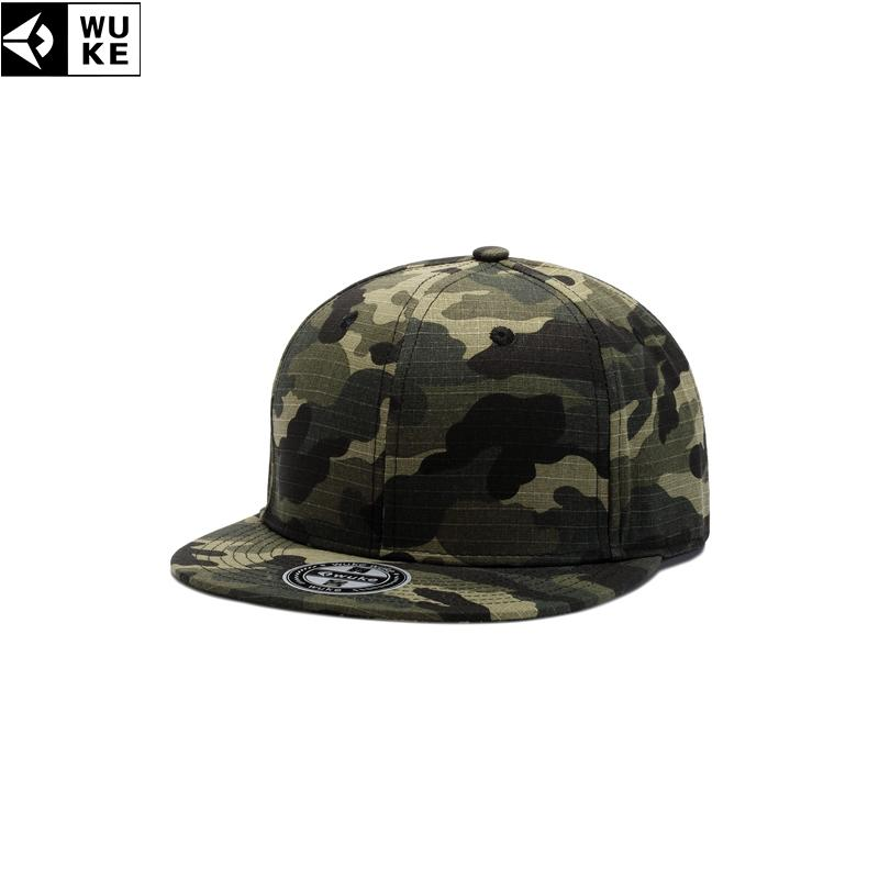 9cf4b1e1a77 WUKE Army Men s Caps Camouflage Flat Brim Baseball Cap For Children Gorras  Para Hombre Hip Pop Hat Adjustable 55 61cm Men s Cap Richardson Caps  Customized ...