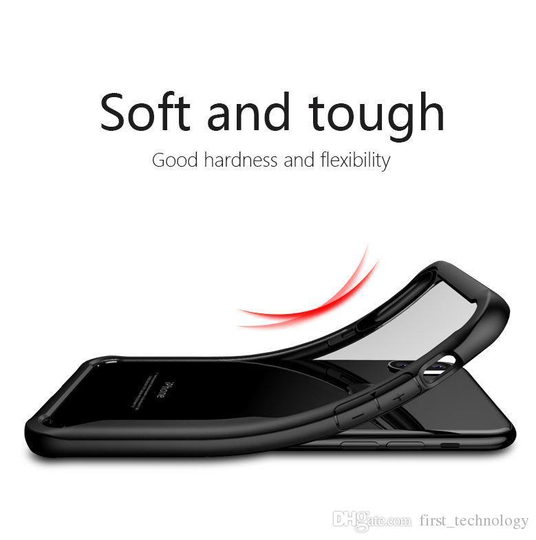 2 1 케이스 아이폰 X 케이스에 아크릴 하드 클리어 슬림 뒷 표지에 아이폰 6 기가 7 8 플러스 전화 커버