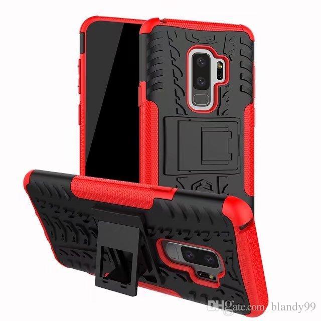 Samsung galaxy S9 artı 2 in 1 için Tarak Zırh Hibrid TPU + PC Sert Kapak Standı destek Vaka samsung J2 pro 2018