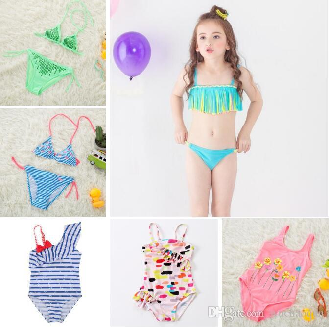 daef47829c 2019 93 Designs Toddler Swimwear Baby Girls Bathing Suits Unicorn Flamingo  Dinosaur Watermelon Flora Rainbow Striped Printed Clothes BY0214 From  Wuchaoqun, ...