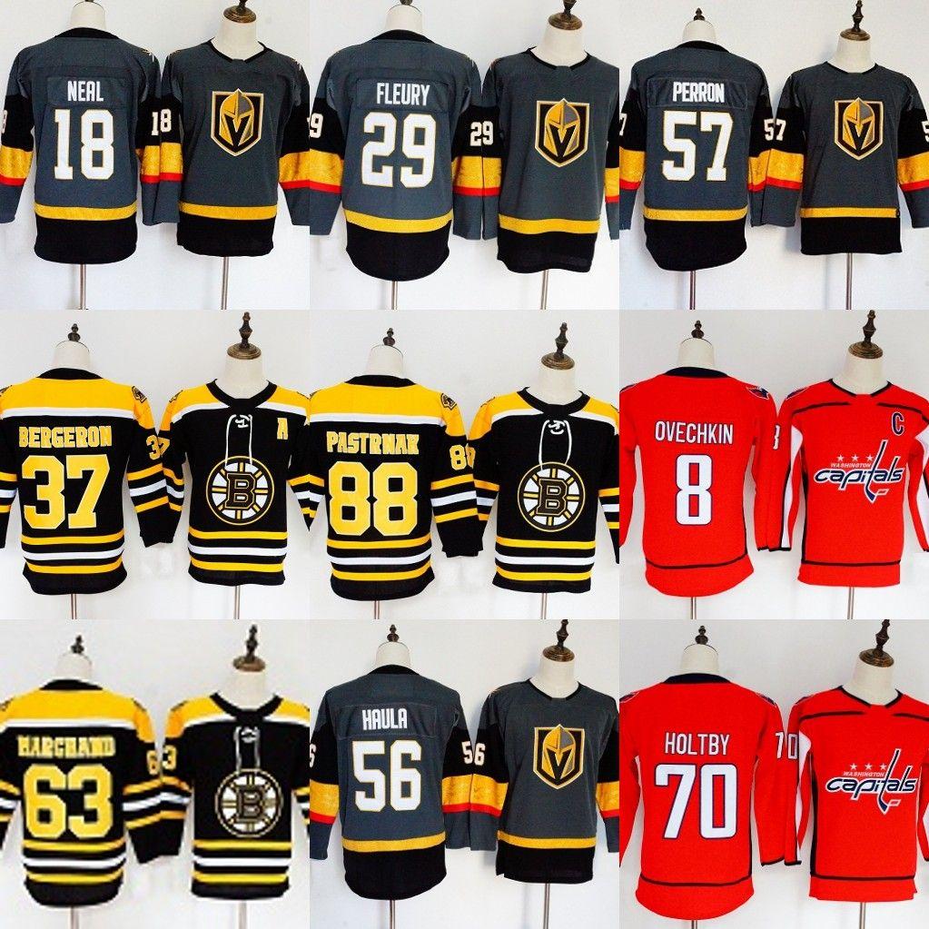 2019 Womens Youths Hockey Jerseys Vegas Golden Knights Boston Bruins  Washington Capitals Jonathan Toews 2018 New Embroidery Ice Hockey Jerseys  From ... 9bc5b91a16