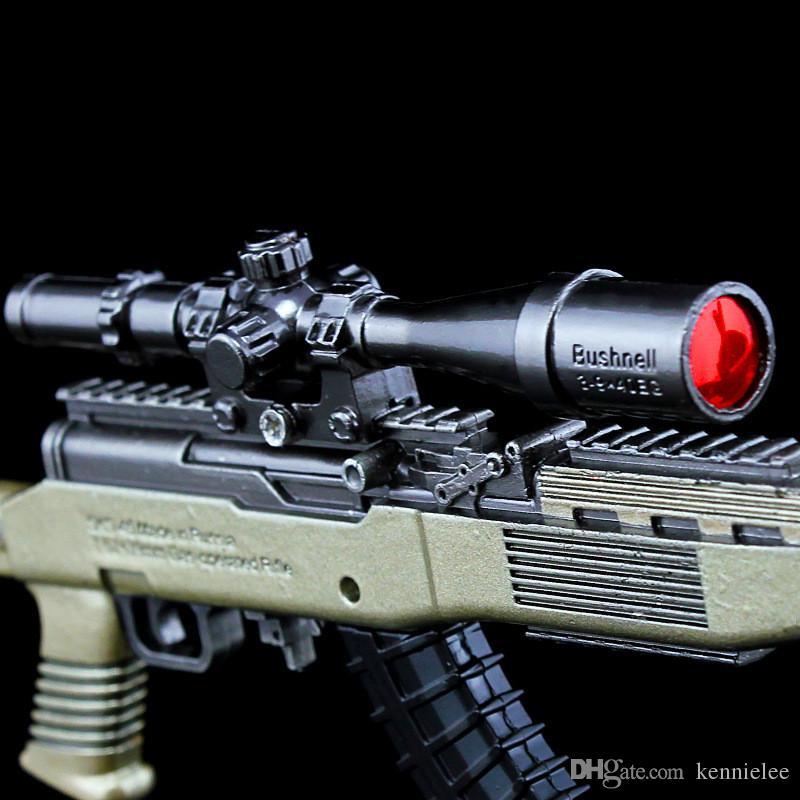 PLAYERUNKNOWNS BATTLEGROUNDS Anahtarlık PUBG SKS 260 MM Metal model silah Anahtarlık Pot süsler Oyuncak süsler Modeli prop