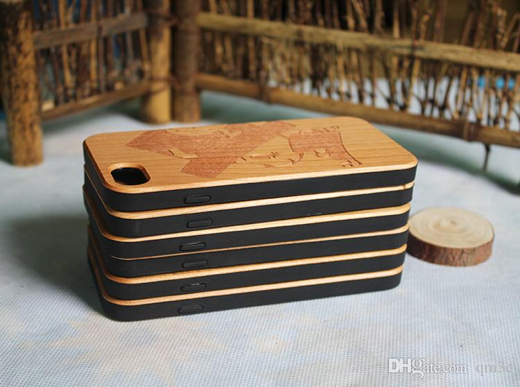 Super Hot Wood TPU Carving Case For iphone X 10 7 8 Plus 6 6s Cell phone Cases Luxury Wooden Bamboo Back Cover For Samsung Galaxy S9 S8 S7