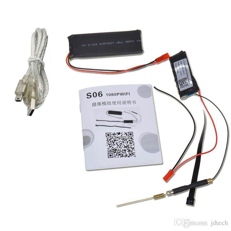 1920 * 1080 P Mini Ağ Kamera Güvenlik Video Kamera Wifi P2P DIY Modülü Mini DV Dadı Kam DVR Kablosuz IP Gözetim Kamera S06