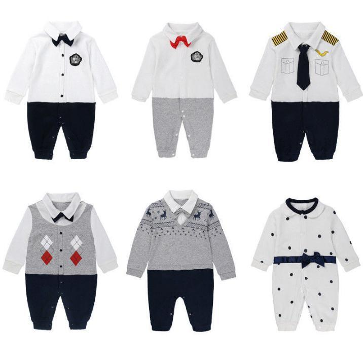 84709c3bdbf3 2019 Baby Rompers Toddler Gentleman Formal Party Baby Boys Romper Wedding  Tuxedo Suit Jumpsuit Children Boy Clothing From Good babyclothes