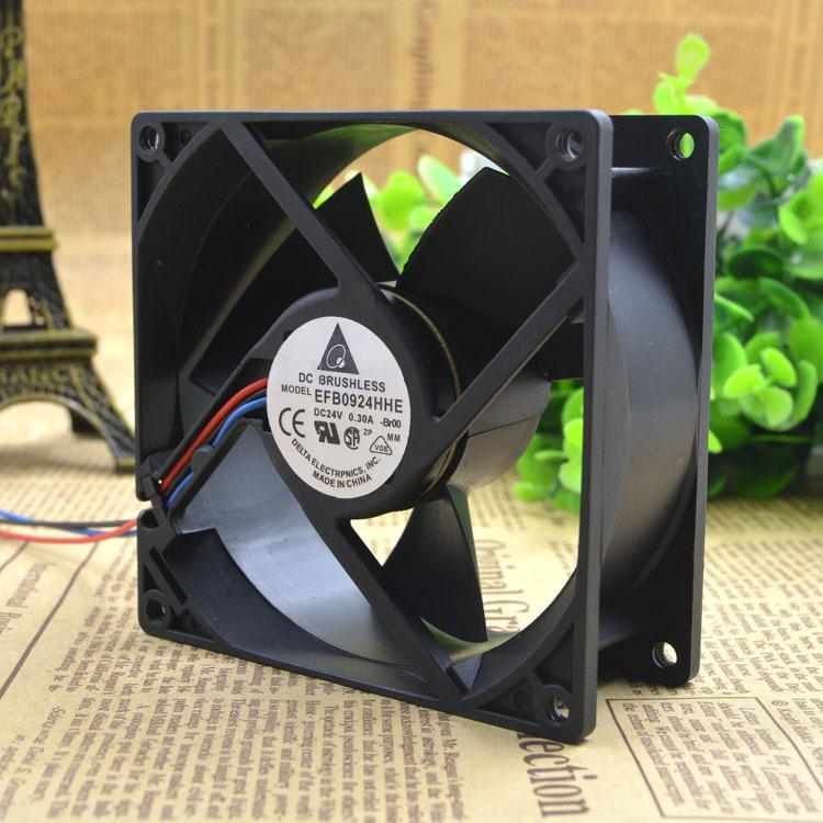 For Original Delta/Teddy EFB0924HHE 9038 24v 0 30A 9CM Inverter Cooling Fan