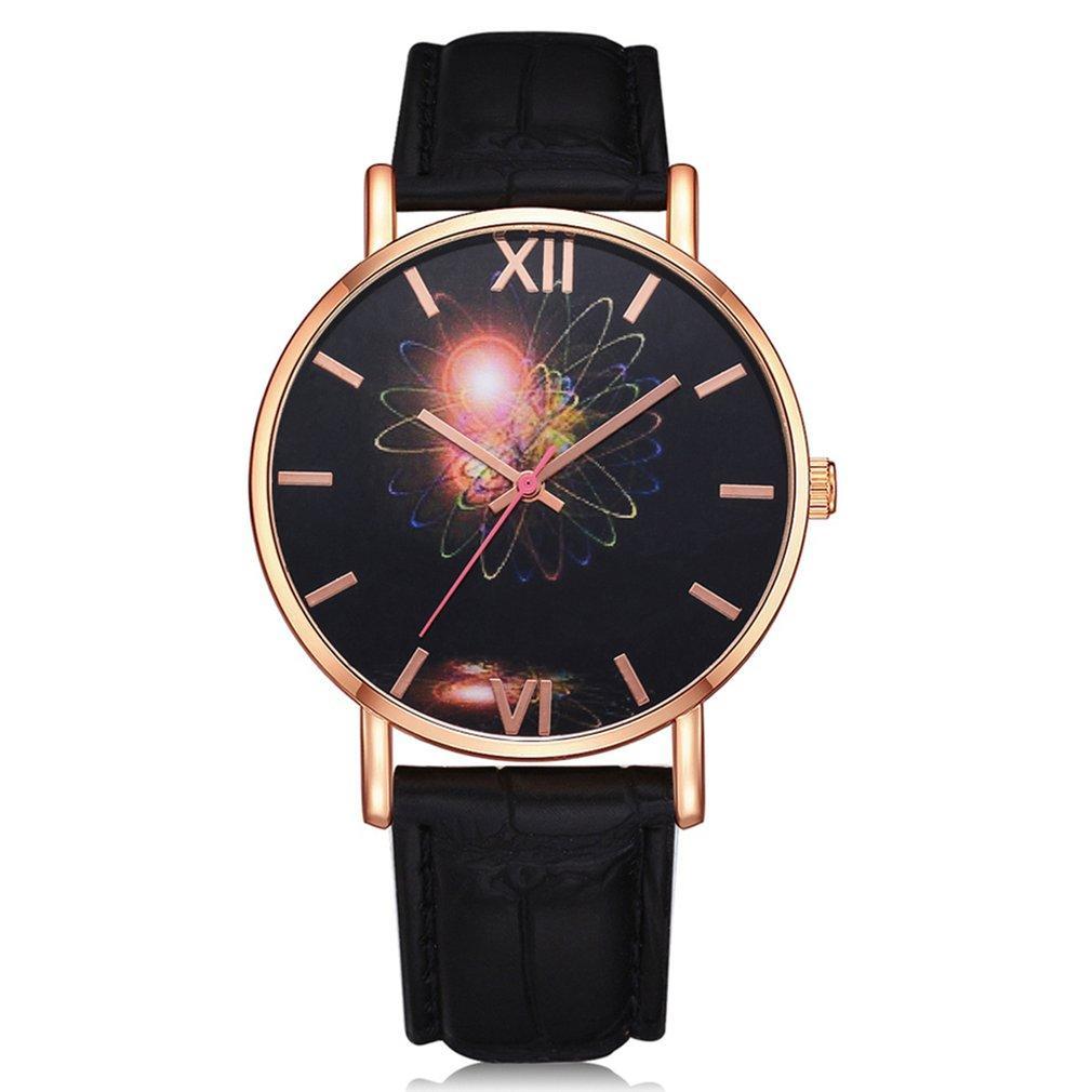 Genboli Fashion Men Woman Boy Girl Birthday Gift Watch Leather