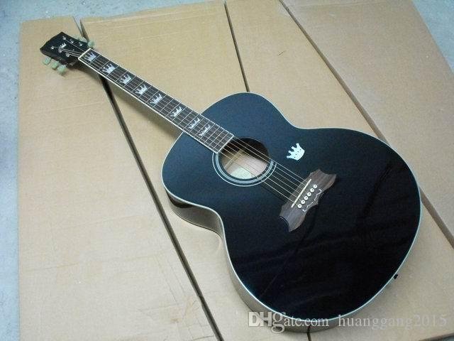 Free Shipping Gibsonsj 200 Acoustic Guitar Made Of Solid Maple Fir Top rosewood side and back in black 120217