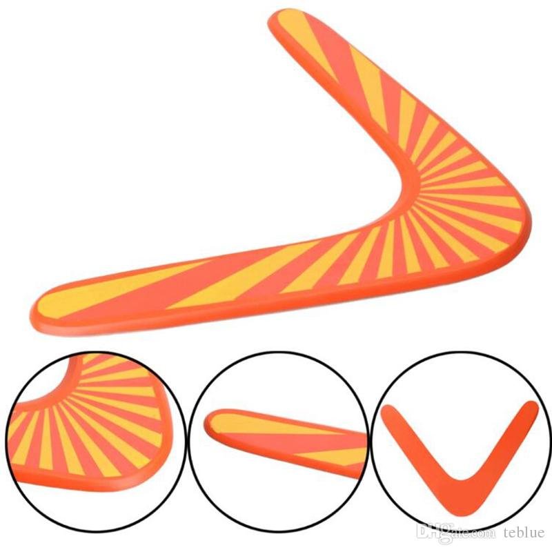 New Style Throwback V Shaped Boomerang Wooden Frisbee Kids Toy Throw Catch Outdoor Game