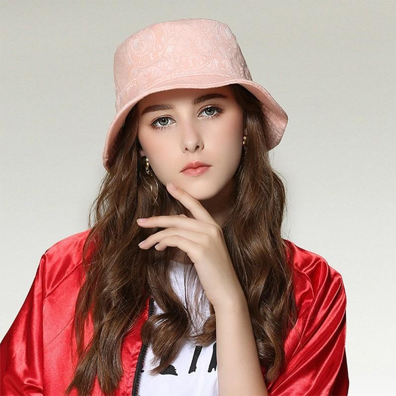2018 Women Summer Short Brim Fisherman Hats Men Outdoors Leisure Sun Hat  Women Top Quality Lace Bucket Hats Easter Hats Fur Hats From Playnice 8227103c285d