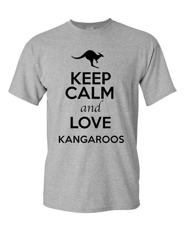 Online T Shirts Design Keep Calm And Love Kangaroos Animal Lover