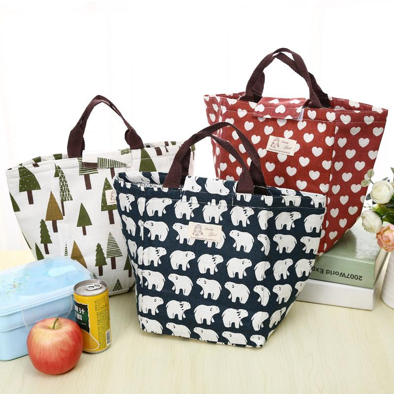 a4266fd454ba Wholesale ETya Fashion Portable Insulated Canvas Lunch Bag Thermal Picnic Lunch  Bags For Women Kids Men Cooler Lunch Box Bag Tote Purses For Sale Stone ...