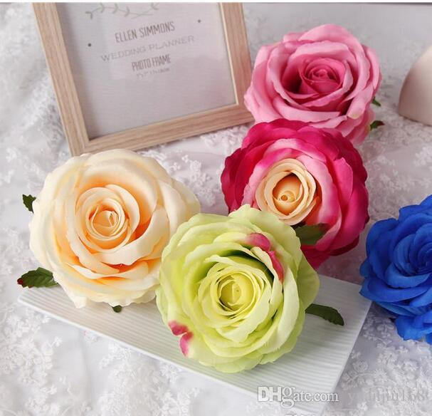 Silk Rose DIY Photography Wedding Flower Wall Flower Ball Arrangement Artificial Rose Heads The Wedding Backdrop Party Decor GA228