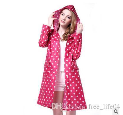 13fa03fff 2019 Factory DirectDot Girl Lady Hooded Raincoat Women Outdoor Travel  Waterproof Riding Cloth Rain Coat For Women Poncho Long Rainwear Rai II 379  From ...
