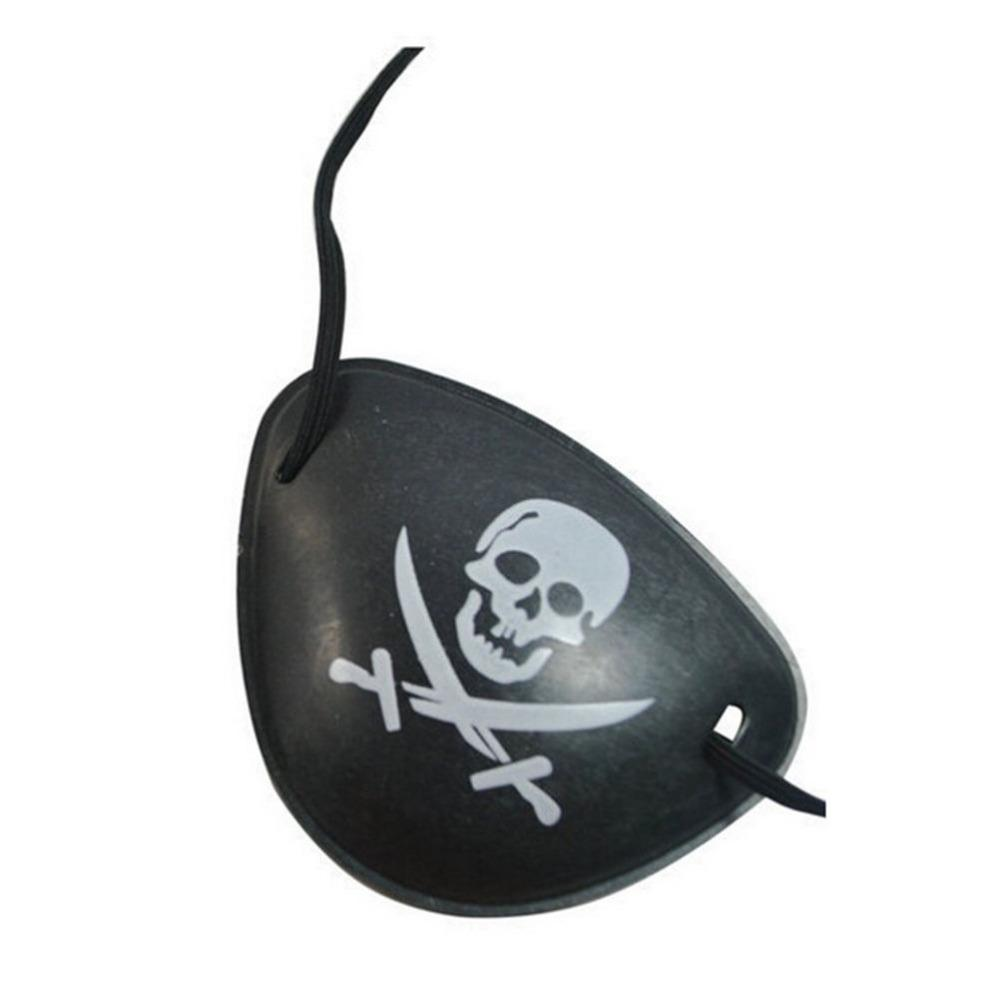 Traje De Plástico Pirata Olho Remendo Preto Favores Do Partido Saco Crânio Crossbone Halloween Aniversário Crianças Brinquedo Fontes Do Partido